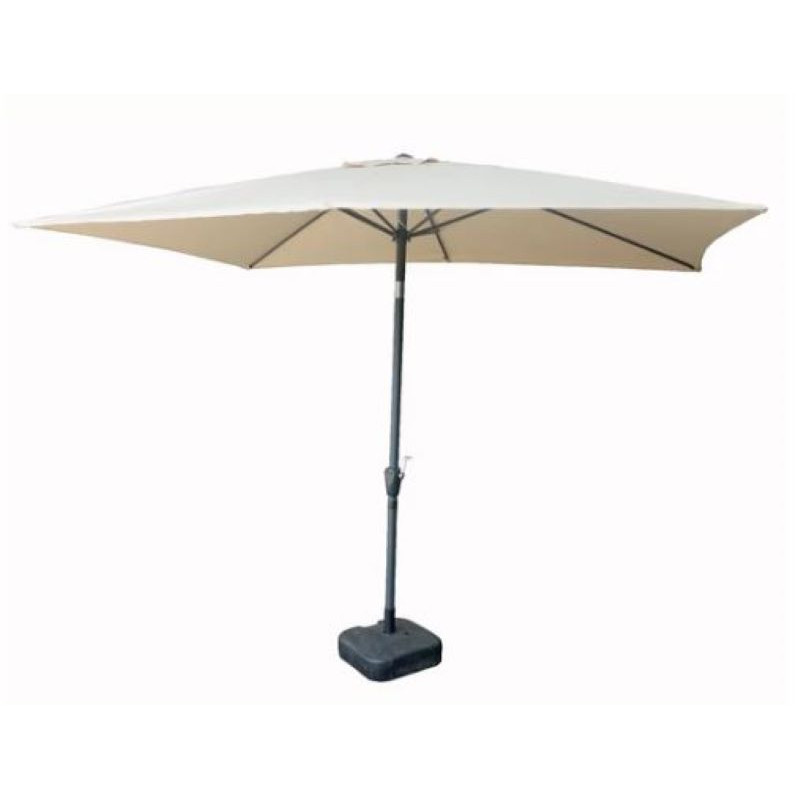 Parasol rectangle inclinable - beige