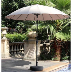 Parasol rond inclinable - beige
